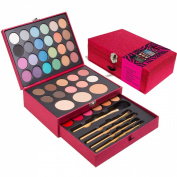 Jumbl Professional Make up & Brush Set - Including 24 Eye Shadows 8 Blushers 2 Eyebrow Powders 4 Lipcolors 2 Concealers 5 Brushes and 3 Pressed Powders + Jumbl Brush and Mirror Included