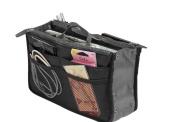 Housweety Travel Cosmetic Makeup Insert Handbag Organiser Purse Large Liner Organiser Bag Holder