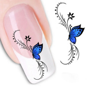 Coromose® Woman 3D Design Butterfly Decals Nail Art Stickers Tips To Decoration