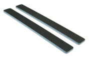 Standard Black 80/100 (Blu Ctr) Square End Nail File 12 Pack