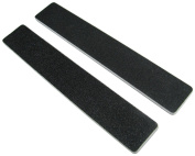 Standard Black 100/180 2.5cm - 0.3cm Wide Washable Jumbo Nail File 12 Pack