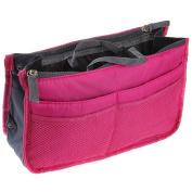 Eforstore Travel Makeup Insert Handbag Organiser Tidy Cosmetic Pocket Purse Zipper Bag Toiletry Bags for Women Men Girls Boys Kids Adults Teens