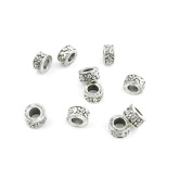 10 Pieces Antique Silver Jewellery Making Charms Supplies Charme Making Findings Craft Silver Q0384 Flower Loose Beads