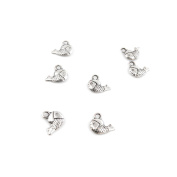 60 Pieces Antique Silver Jewellery Making Charms Supplies Charme Making Findings Craft Silver Q0659 Fish