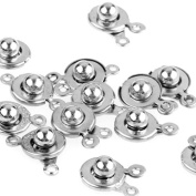 Skyus® 50 X Silver Tone Metal Round Clasp Jewellery Findings 9mm HOT
