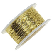 Artistic Wire Craft Wire, 28 Gauge Thick, 15 Yard Spool, Bare Yellow Brass