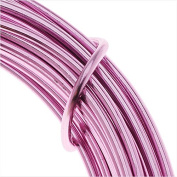 Artistic Wire Aluminium Craft Wire, 12 Gauge Thick, 12 Metre Spool, Anodized Rose Finish