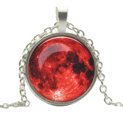 Sunward Full Moon Pendant Space Galaxy Jewellery Necklace T-shirt Sweater Chain