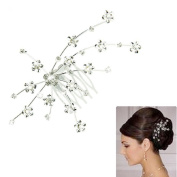 Sunward Fashion Silver Personality Gem Crystal Wedding Bridal Princess Jewellery Crown Hair Jewellery Accessories
