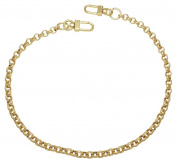 k-craft BG12 125cm Purse Metal Chain Strap Replacement Gold Crossbody Shoulder Strap Handbag