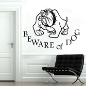 Wall Decals Animals BEWARE of DOG Sign Dog Pet Dogs Bulldog Vinyl Decal Sticker Home Decor Design for Dog House Any Room Murals ML161