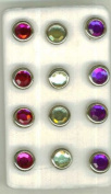 Gemstone/jewel Coloured Brads Set