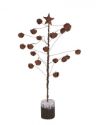 YK Decor Rustic Timeless Bell Star Metal Tree
