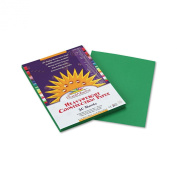 PAC8003 Construction Paper, 26kg., 9 x 12, Holiday Green, 50 Sheets/Pack