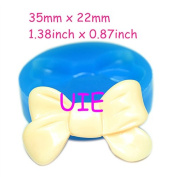 067LBF Ribbon/Bow Mould Silicone Mould 35mm - Miniature Food Cotton Candy Candle Bakeware Moulds, Fondant Mould Resin Mould