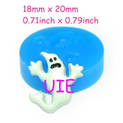 065LBJ Ghost Mould Hallowmas Halloween Ghost Mould Halloween Cookie Silicone Mould 20mm - Bakeware Soap Moulds, Charms Mould