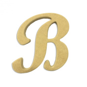 60cm Wood Script Cursive Capital Letter B Unfinished DIY Craft Cutout to Sell Ready to Paint Wooden Stacked