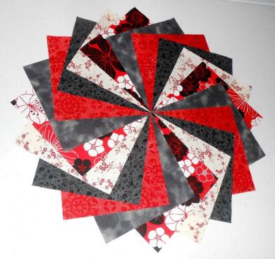 40 13cm Red/Black/White Charm Pack