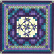 Easy Quilt Kit Nine Patch Star Lily Purple/Aquas/Queen