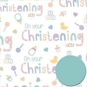Christening Day Wrapping Paper Pack Wrap Set 2 X Sheets Gift Wrap & 2 X Tags