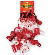 CURLED RIBBON BOW RED HEARTS #34072, CASE OF 192