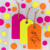 Ginger Ray Neon Fluorescent Luggage Gft Tags for Wrapping and Crafting - Neon Birthday