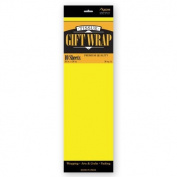 TISSUE PAPER LIGHT YELLOW 10 SHEETS #34025, CASE OF 144