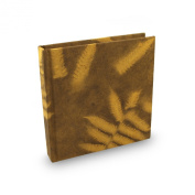 Eight Rivers Eco Fern Leaf Journal with Handmade Lokta Paper. 15cm x 15cm . Made in Nepal.