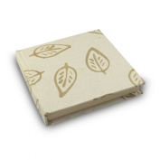 Eight Rivers Eco Batik Leaf Journal with Handmade Lokta Paper. Made in Nepal. 15cm x 15cm