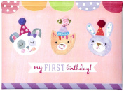 C.R. Gibson Gibby and Libby Pop Up Photo Brag Book, First Birthday Girl