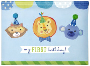 C.R. Gibson Gibby and Libby Pop Up Photo Brag Book, First Birthday Boy