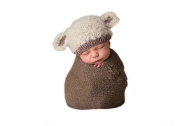 Pinbo Newbron Baby Photo Photography Prop Crochet Knitted Costume Sheep Hat Caps
