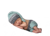 Pinbo Baby Photo Photography Prop Crochet Knitted Costume Khaki Hat Shorts