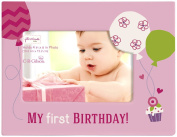C.R. Gibson Gibby and Libby First Birthday Photo Frame, Girl