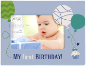 C.R. Gibson Gibby and Libby First Birthday Photo Frame, Boy