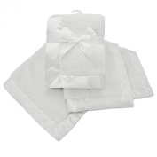 American Baby Company Sherpa Receiving Blanket, White
