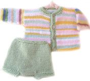 KSS Handmade Pastel Sweater with a Nappy Cover