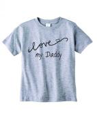Baby Tee Time Boys' Crew Neck TEE Cursive I love my Daddy funny Shirt