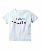 Baby Tee Time Boys' Crew Neck TEE I love my Brother funny Shirt