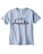 Baby Tee Time Boys' Crew Neck TEE I love my Auntie funny Shirt