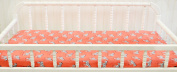 New Arrivals Zebra Parade in Coral Changing Pad Cover