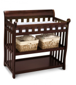 Premium Changing Table Baby Furniture for Nappy Change in Delta Modern Black Cherry Solid Wood Design