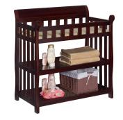Premium Changing Table Baby Furniture Nappy Organiser in Espresso Delta Modern Solid Wood Design