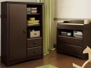 Angel Changing Table and Armoire with Drawers