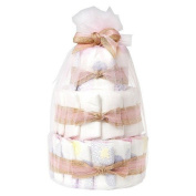 Honest Mini Nappy Cake - Girl