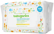 BabyGanics Thick n Kleen Baby Wipes Newborn - Fragrance Free - 100 ct
