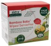 Aleva Naturals Bamboo Baby Sensitive Wipes - Value Bundle