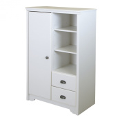 South Shore Fundy Tide Armoire with Drawers, Pure White