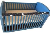 New Baby Cot Crib Teething Rail Cover Dust Ruffle Blue Planet 100% Cotton 53