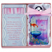 Pink Baptism Water Bottle Pink Bow and Box